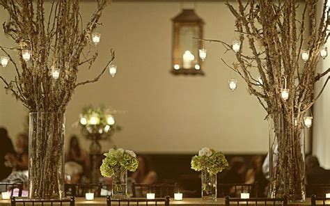 wedding decor tree branch details