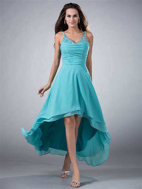 Wedding Team Colours by Aliexpress Buy High Low Turquoise Chiffon