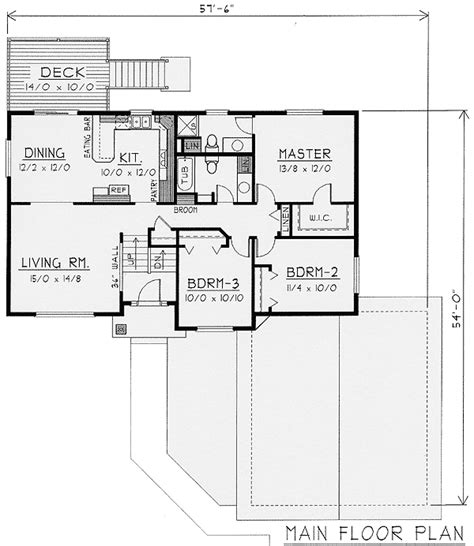 Bi Level Floor Plans With Attached Garage Beste Awesome