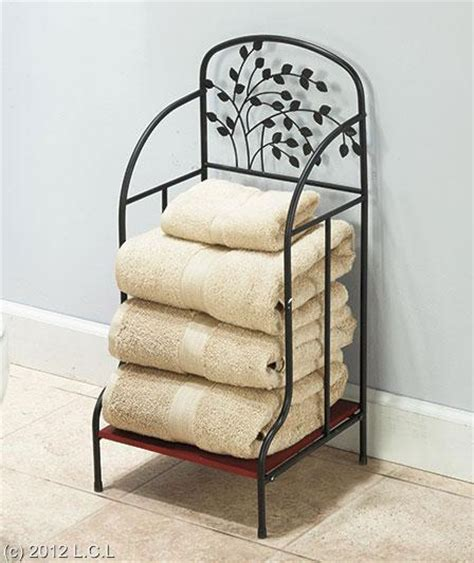 Bathroom Magazine Rack With Shelf Metal Tree Accented Bathroom Furniture Towel Stacker