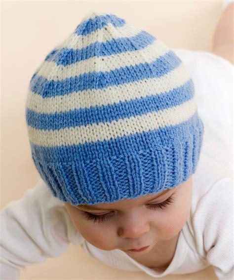Knit Stripe free knitting patterns baby hats stripe knit baby hat
