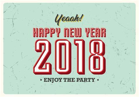 imagenes vintage año nuevo 2018 cartel del vintage del a 241 o nuevo 2018 descargue gr 225 ficos