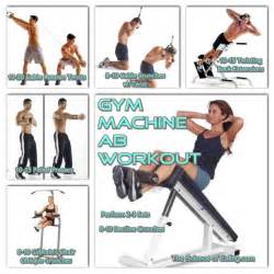 machine based workout routine machine ab workout