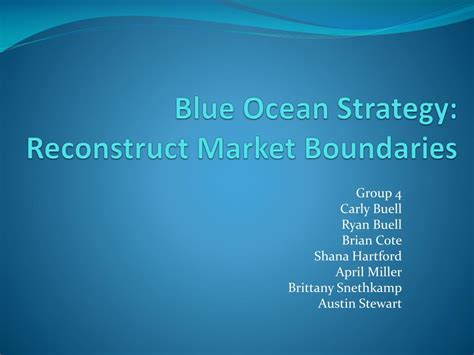 Ppt Blue Ocean Strategy Reconstruct Market Boundaries Powerpoint Presentation Id 392246 Blue Strategy Powerpoint
