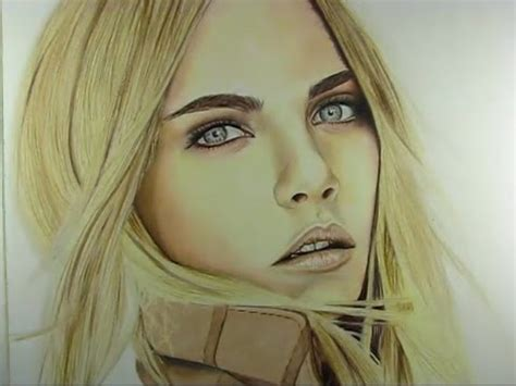 cara a cara con tutorial c 243 mo colorear piel con l 225 pices de colores cara delevingne youtube