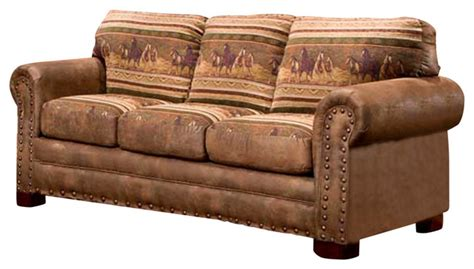 southwestern sofas american furniture classics wild horses sofa view in