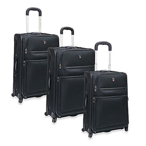 bed bath and beyond suitcases travelers club 174 upright spinner luggage in black bed