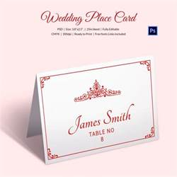 Place Name Cards Template by Wedding Place Card Template 20 Free Printable Word Pdf