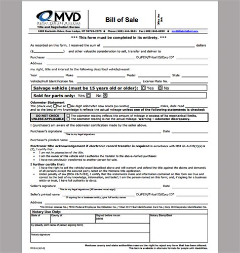 bill of sale template for business format of business