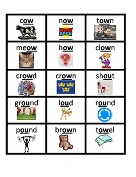 Oi Picture Cards phonics diphthong word picture cards by jbrown