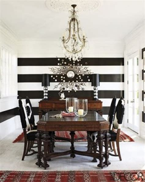 black and white striped room black and white dining room stripes stripes