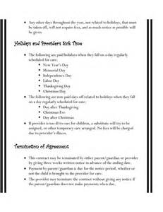 daycare contract template 25 best ideas about daycare contract on