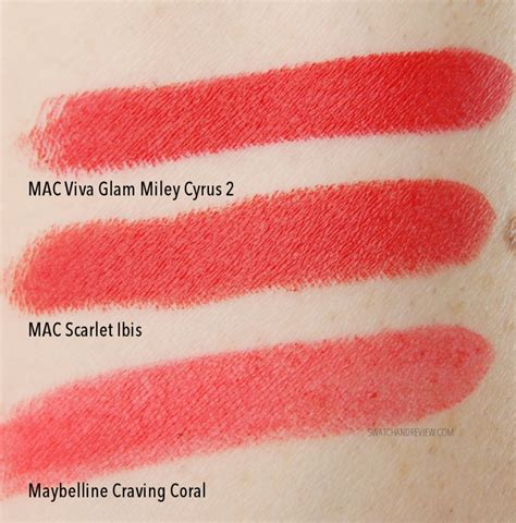 Viva Eyeshadow Orange mac cosmetics viva glam miley cyrus 2 matte lipstick review swatch and review