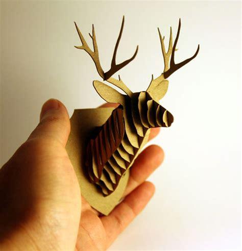 cardboard trophy template hello my deer mini cardstock animal trophy