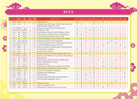 chinese calendar  tyn feng shui master