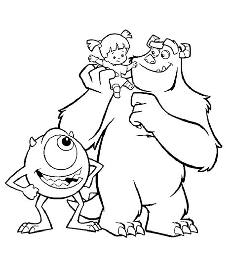 coloring pages monsters inc az coloring pages