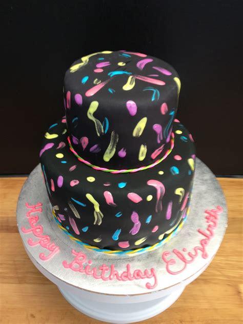 neon doodle cake ideas pin neon doodle groovy rocker birthday cake on