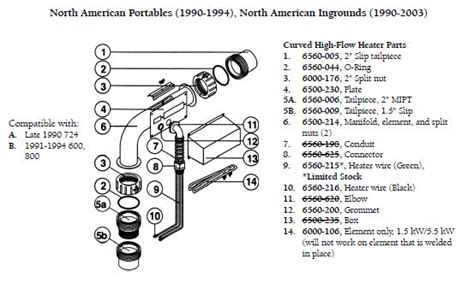cal spa parts diagram sundance spa heater manifold element and 2 split nuts