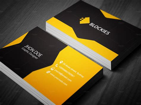 Creative Business Card Template Business Card Templates On Creative Market Cool Business Card Templates