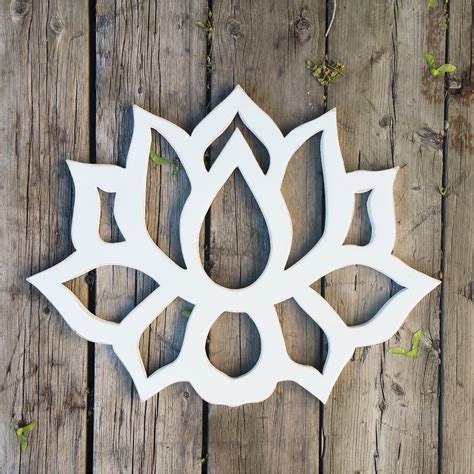 lotus flower wood wall