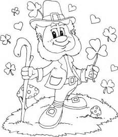Leprechaun With Shamrocks Everywhere Coloring Page Kids Play Color sketch template