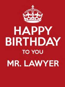 happy birthday to you mr lawyer poster