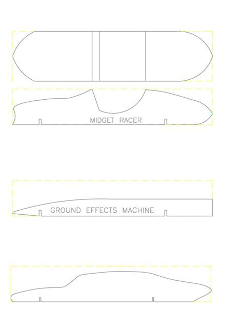 pinewood derby car templates wood working