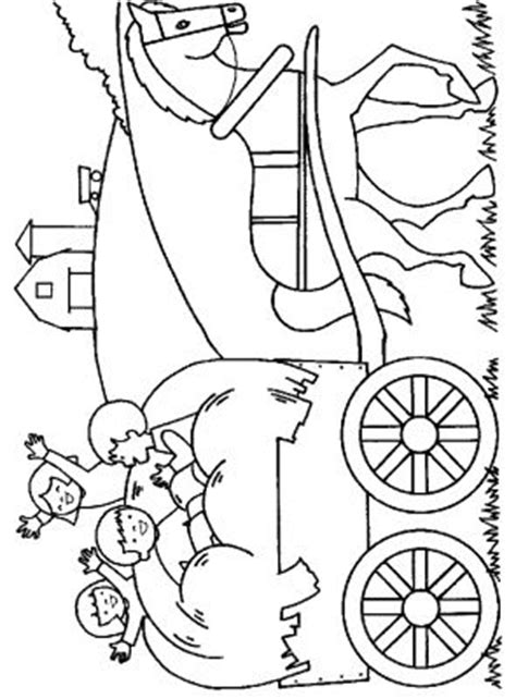 Coloriages gratuits - Enfants Coloriage enfant caleche cheval
