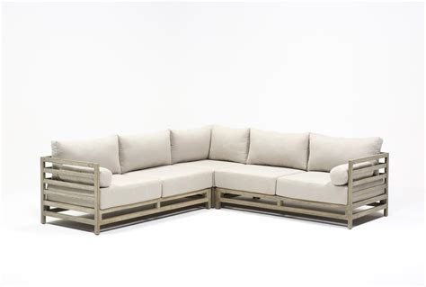 Living Spaces Sectional by Outdoor Pompeii 3 Sectional Living Spaces