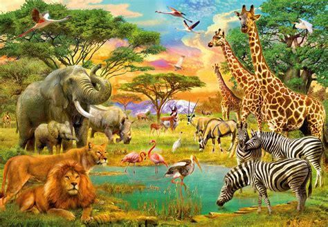 Animaux Z by Les Animaux D Afrique Poster Mural Papier Peint Acheter