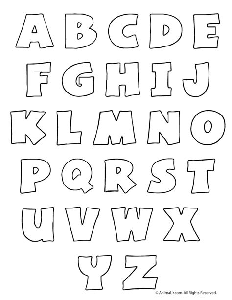 font templates to print printable letters letters set craft jr