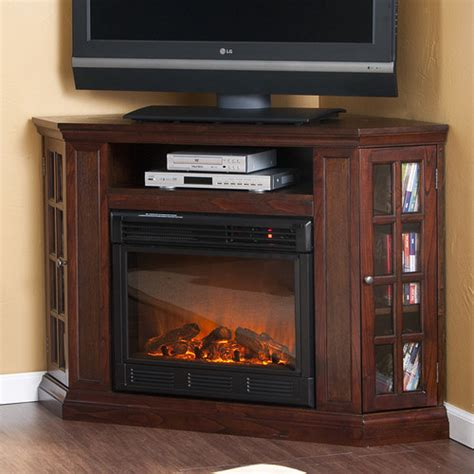 Electric Fireplace With Shelves by Bismark 50 Quot Tv Stand With Electric Fireplace Modern