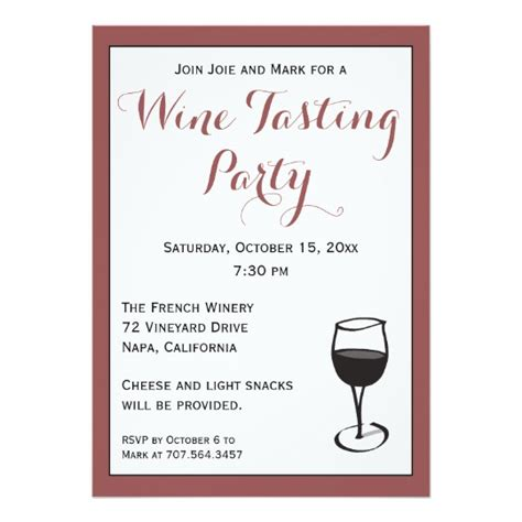 wine tasting template wine tasting invitation template zazzle