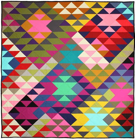 modern pattern quilted fabric modern prism quilt by tara faughnan 60 quot x 63 quot