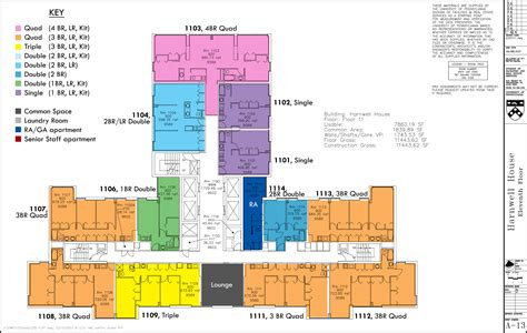 11th Floor by Floor Plans College Houses Academic Services
