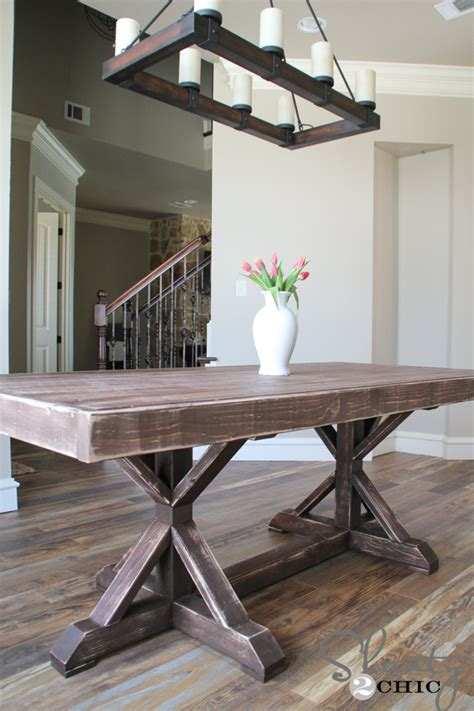 how to make a dining bench restoration hardware inspired dining table for 110