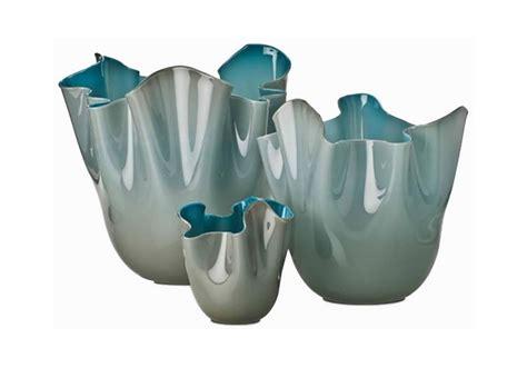 vaso venini fazzoletto fazzoletti bicolore venini vaso milia shop
