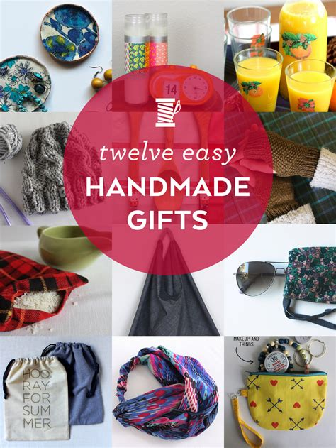 Easy Handmade Gifts - 12 easy handmade gifts sew diy