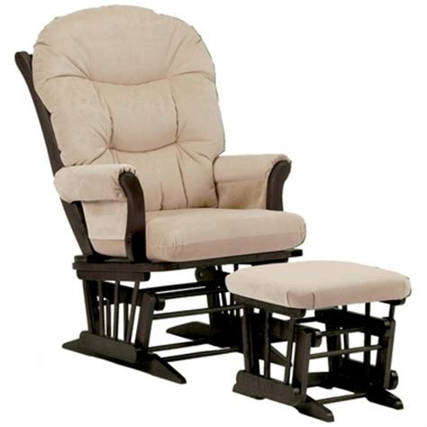 dutailier glider and ottoman set dutailier espresso sleigh glider and ottoman set with