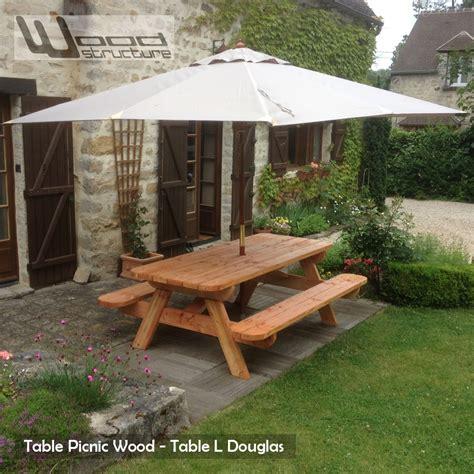 banc de picnic en bois table pique nique xld table design wood structure