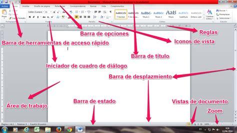 partes de la ventana de microsoft word office de 2016 elementos de la ventana de microsoft word mariuxisaldarreaga