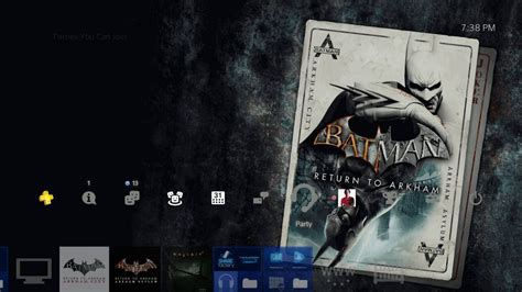 ps4 themes batman batman return to arkham ps4 theme youtube