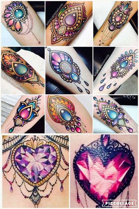 jewel tattoo designs gem design ideas design
