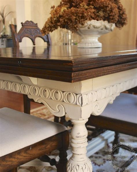 how to paint a dining room table with chalk paint painted furniture dining room table update dining room
