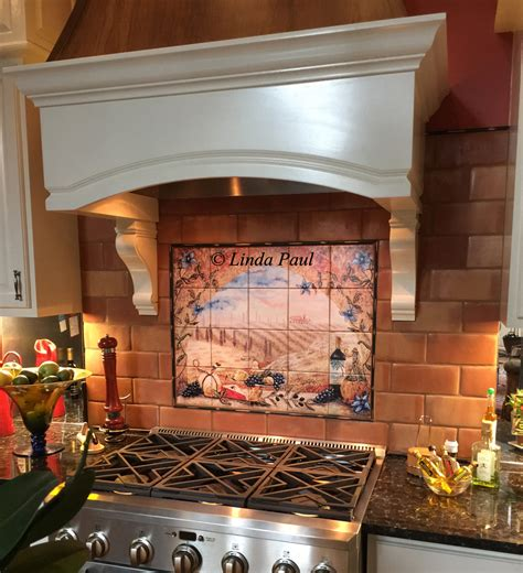 ceramic tile murals for kitchen backsplash tile murals tuscany backsplash tiles