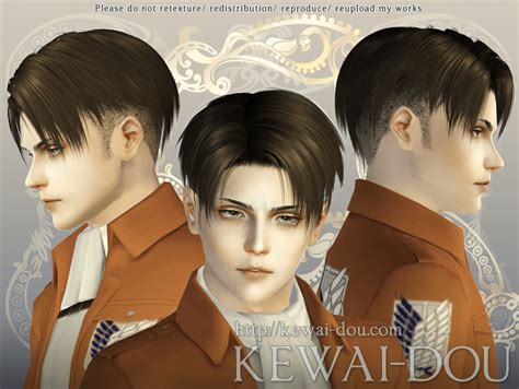 Levi Hair For The Sims3 Kewai Dou   levi shaved ver hair for the sims3 kewai dou