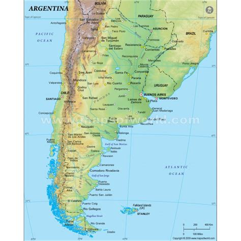 argentina physical map argentina images