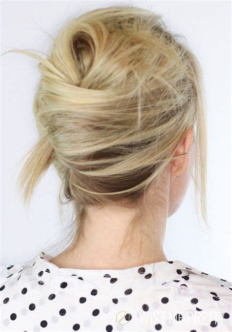 most popular sleek classic french twist with side bangs best 25 fine hair updo ideas on pinterest hair updo