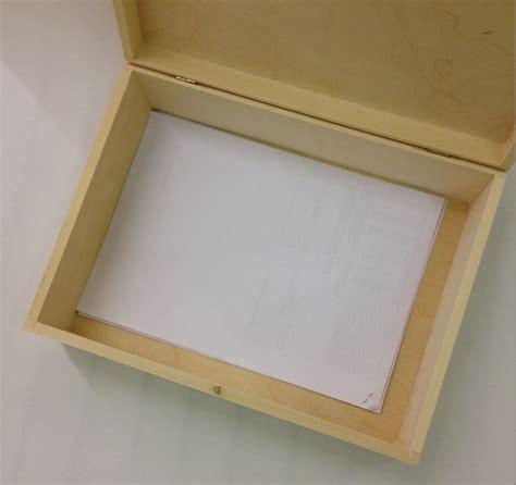 Souvenir Box by Unpainted Wooden Box Souvenir A4 Size Memory Box