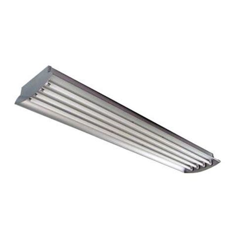 4 Bulb T8 Light Fixture Homeselects 4 Ft 4 L 32 Watt Each T8 Aluminum Fluorescent High Bay Light Fixture 6280 The